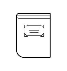 old book of library vector image