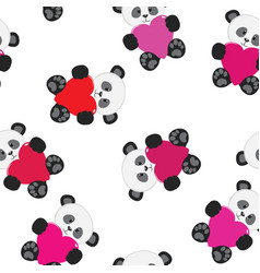 Panda seamless pattern vector