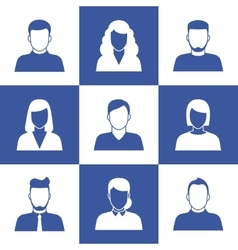 People profile silhouettes vector image