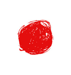 red brush stroke circle vector image