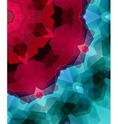 Retro pattern made of hexagonal shapes Mosaic vector image