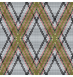 Rhombic tartan brown and gray fabric seamless vector