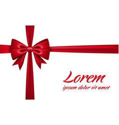 Ribbon bow for gift isolated white background vector