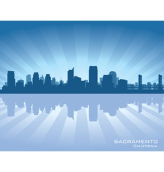 Sacramento California skyline vector