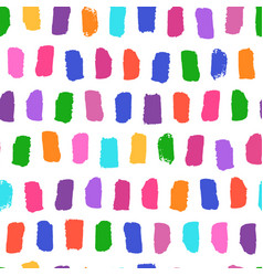 seamless pattern with bright brushstrokes vector image