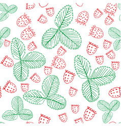 seamless pattern with raspberries vector image vector image