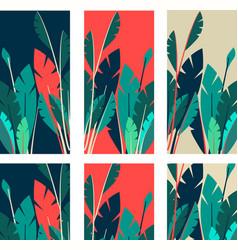 Set indoor plants tag vector