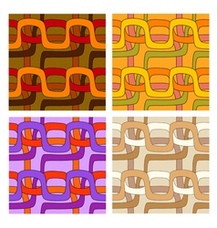 Set of seamless patterns in different color ranges vector