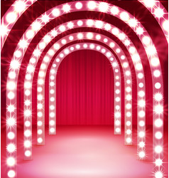 Shine corridor light passage for your performance vector