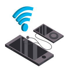 Smartphone and music player vector