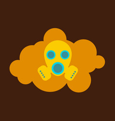 Smog air pollution warning poster icon vector