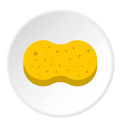 Sponge for washing icon circle vector