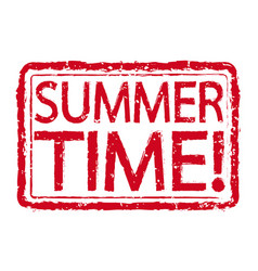 summer time stamp text design vector image