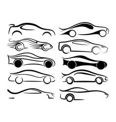 Symbols of sports cars vector