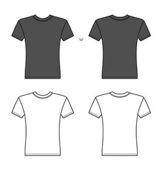T shirt man template front back views vector