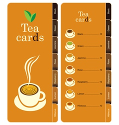 tea cards vector image
