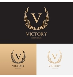 template logo boutique brand vector image