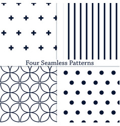 The geometric patterns vector
