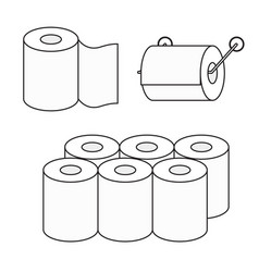 Toilet paper roll icon set toilet paper vector