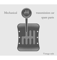 Transmission car vector