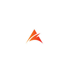 Triangle abstract business logo vector