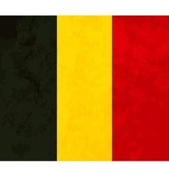 True proportions Belgium flag with texture vector image