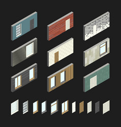 wall patterns with doors and windows vector image