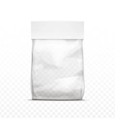White Vertical Sealed Transparent Plastic Bag vector image