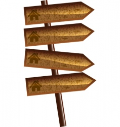 wood arrows vector image