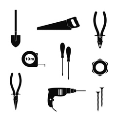 Work tool Icon set vector image