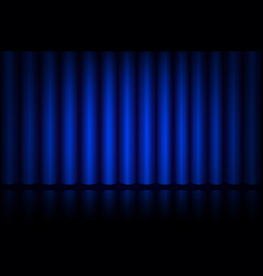 blue curtain on stage in the theater vector image vector image