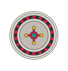 roulette flat vector image