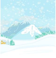 winter landscape - vector image vector image