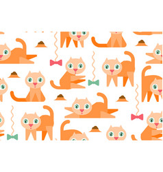 red cats vector image