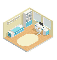 kids room composition vector image