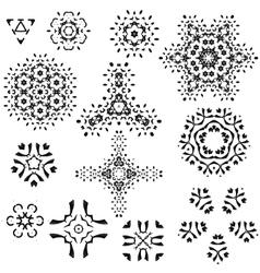 Snowflakes Christmas icons Snow flake vector image vector image