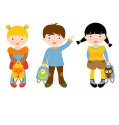 Back to school kids vector image