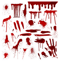 blood or paint splatters splash spot red stain vector image