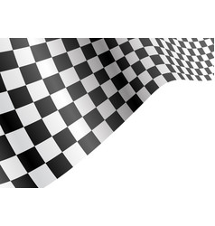 checkered flag flying wave white sport race vector image vector image