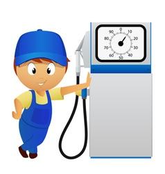 man fuel pump vector image vector image