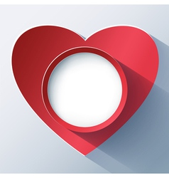 Valentines day card frame with 3d heart vector image vector image
