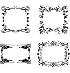 A set various floral frames vector