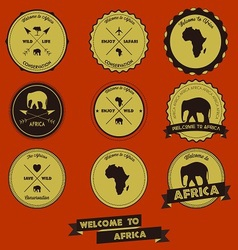 Africa Label Design vector image