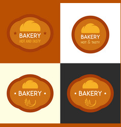 bakery logo with bun vector image