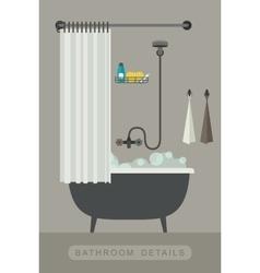 Bathroom interior with bath vector image