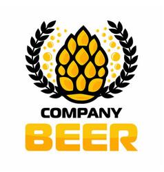 beer logo company label craft vector image