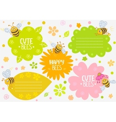 Bees cute vector