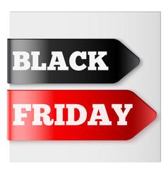 black friday tag ribbons vector image