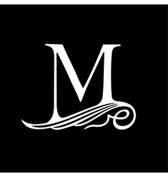 Capital Letter M for Monograms Emblems and Logos vector