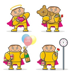 Cartoon Valentines Day icon vector